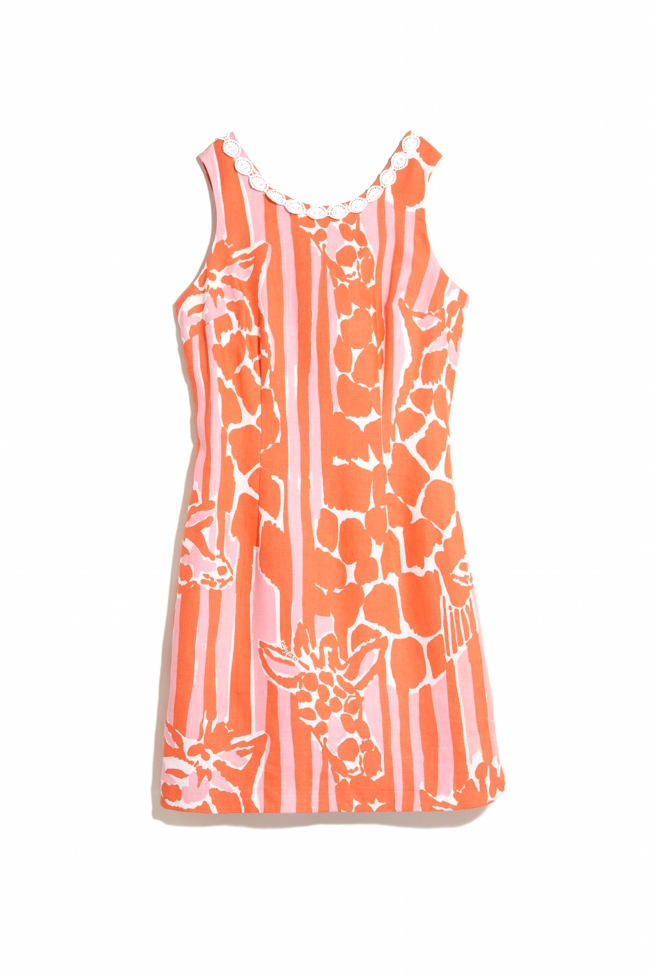 Lilly Pultizer x Target shift dress in 'Giraffeey' print