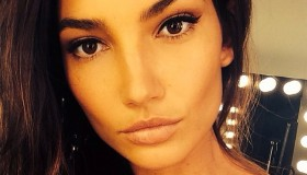 Lily Aldridge is the latest model to appear in the 'Towel Series' by Mario Testino.