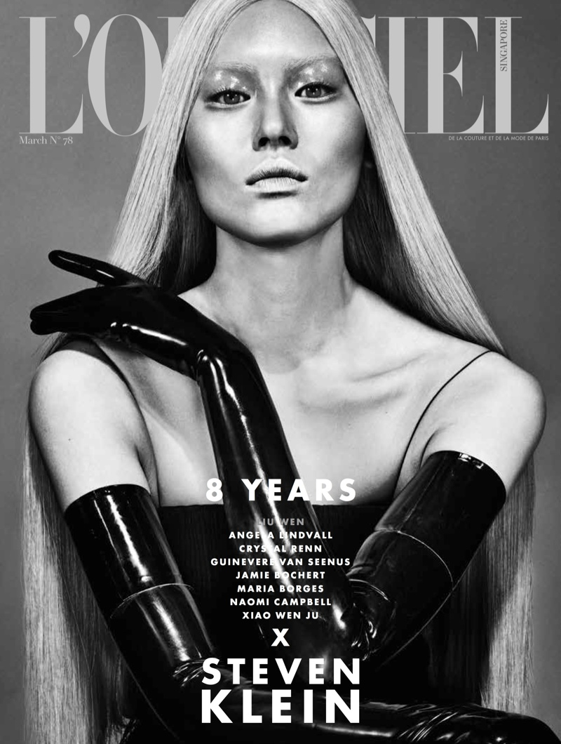 8 Top Models Transform for L'Officiel Singapore
