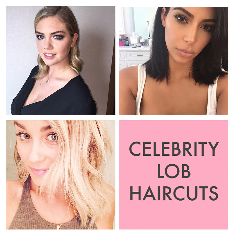 Kate Upton, Kim Kardashian and Lauren Conrad are three celebrities who recently had long bob or lob haircuts. Photos via Instagram.