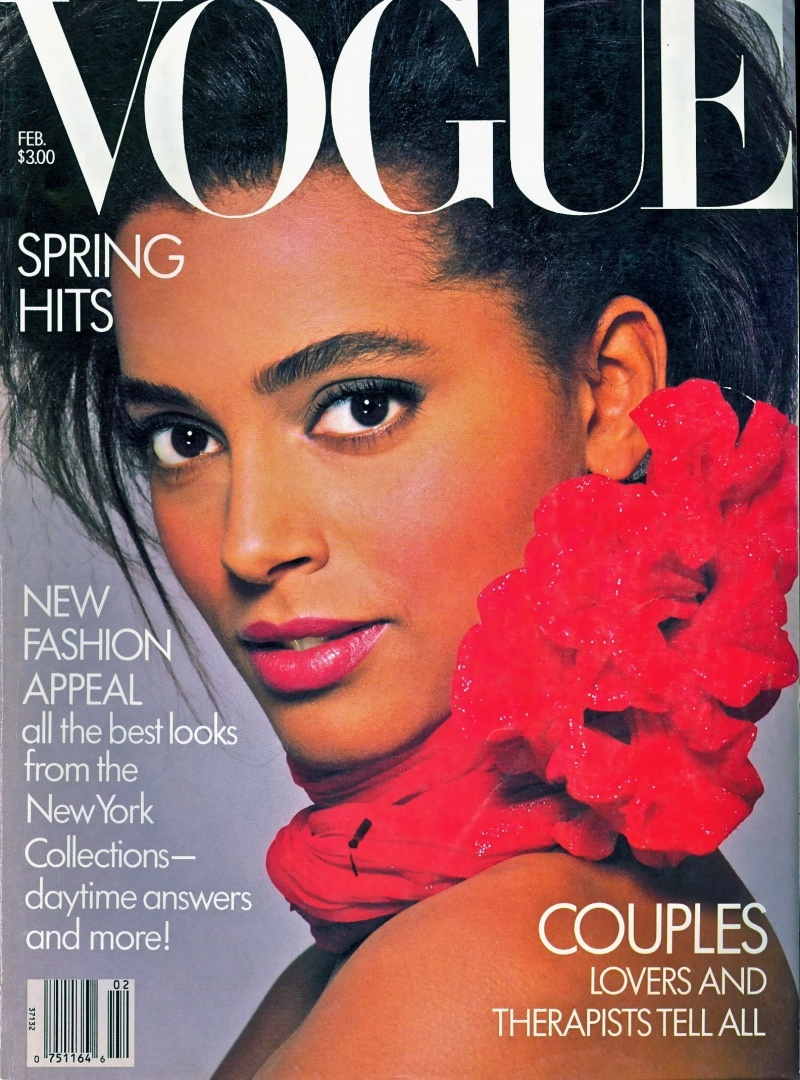 Model Louise Vyent appeared on the February 1987 cover of Vogue.
