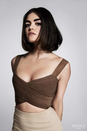 Lucy Hale Flaunts Her New Bob for Sexy Shoot
