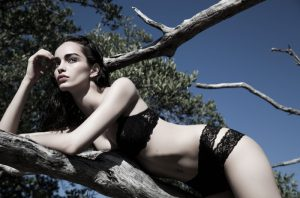 Luma Grothe Models Lingerie at the Beach for GQ Russia