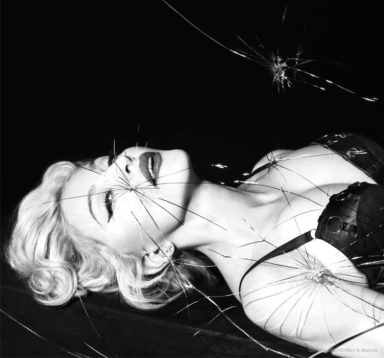 Madonna poses for the latest issue of Out Magazine, out on newsstands on March 17.