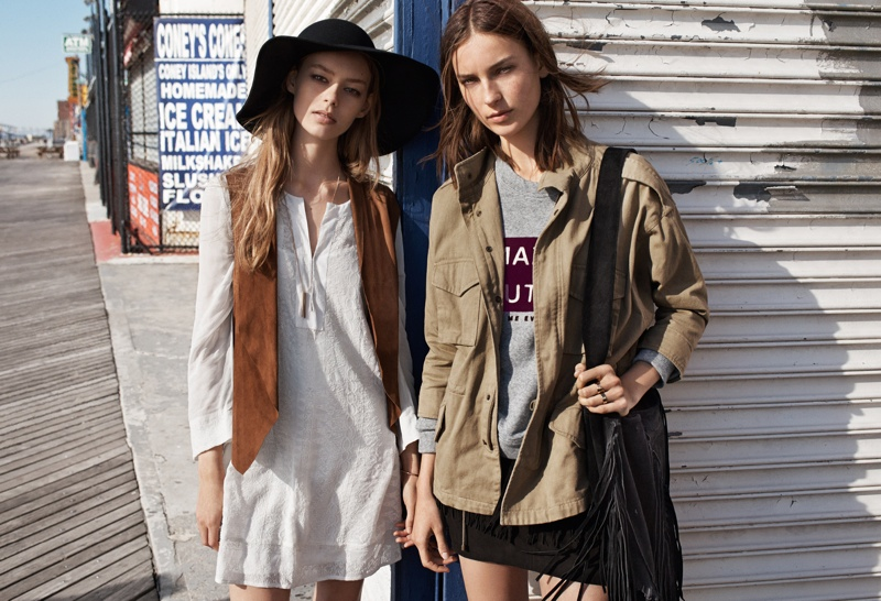 Layering is key to the music festival look.