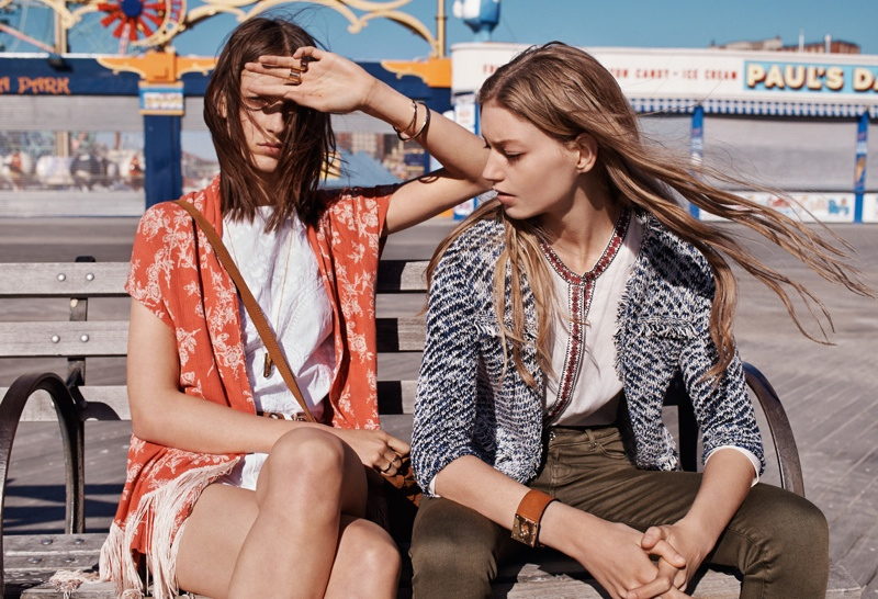 The girls take on colorful and worldly prints for Mango's new lookbook.