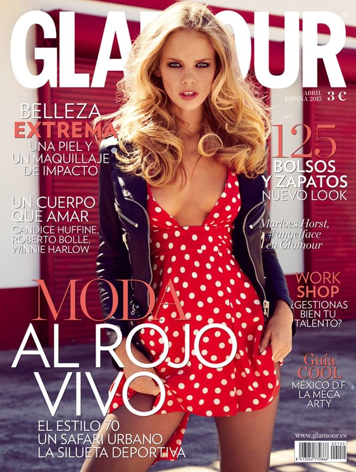 Marloes Horst lands April 2015 cover from Glamour Spain