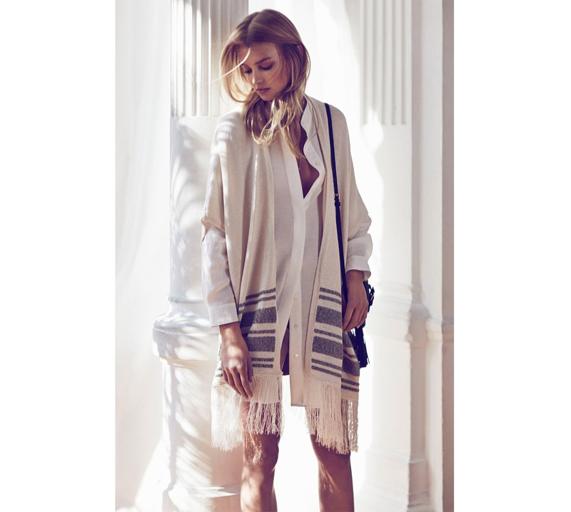 Sigrid Agren stars in Massimo Dutti's March 2015 lookbook modeling casual chic styles.