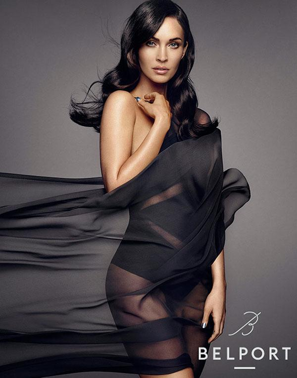 Megan Fox stars in Belport skincare advertisement.