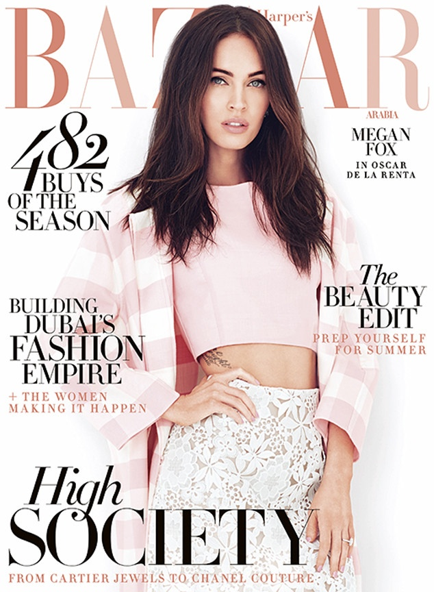 Megan Fox graces the April 2015 cover from Harper's Bazaar Arabia photographed by John Russo.