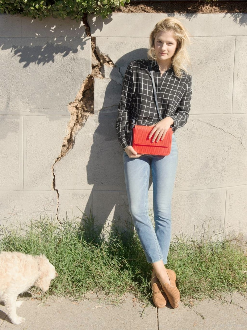 The new line of accessories from & Other Stores features colorful handbags.
