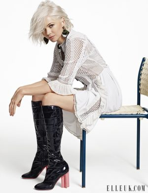 Michelle Williams Wears Louis Vuitton for ELLE UK Shoot