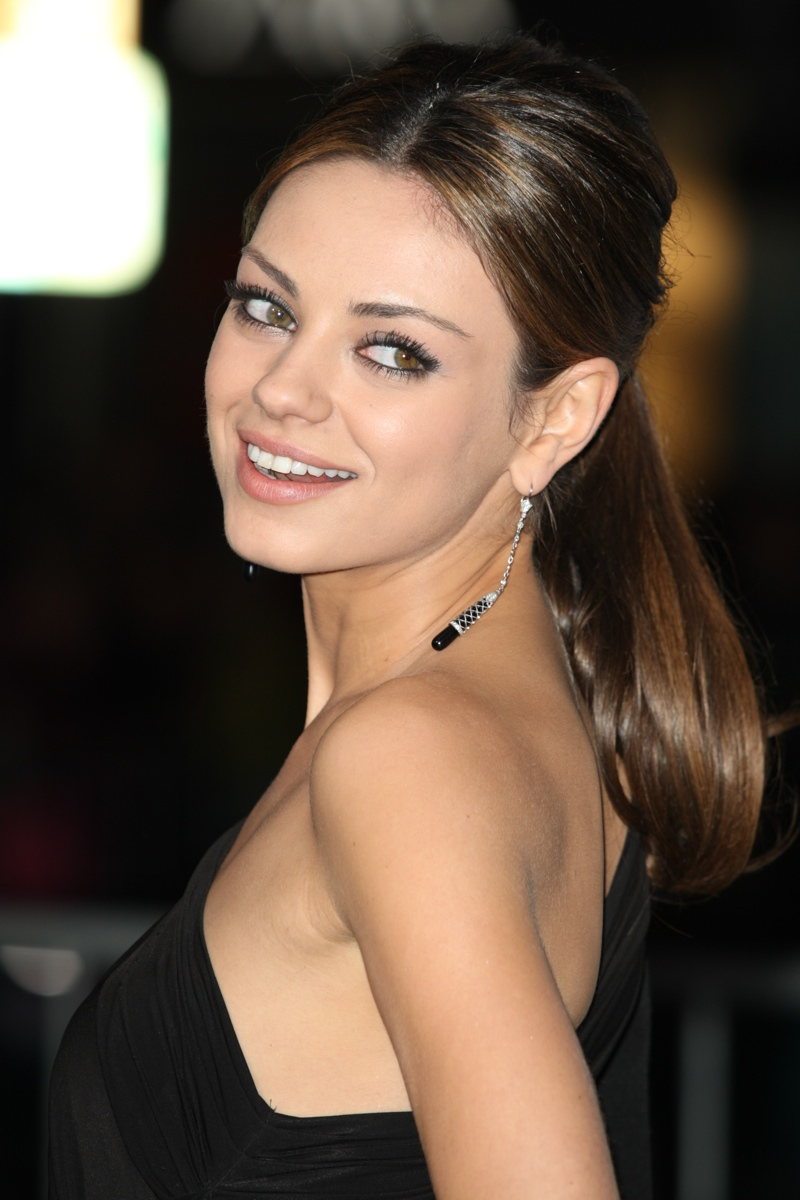 Mila Kunis takes on a sleek and elegant ponytail hairstyle. Photo: Shutterstock.com