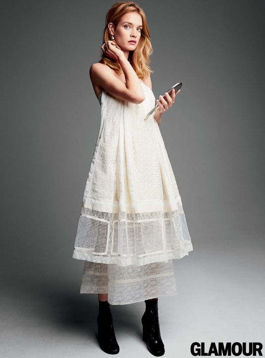 Natalia Vodianova Wears White Dresses for Glamour Photoshoot ... 1ca592721f2