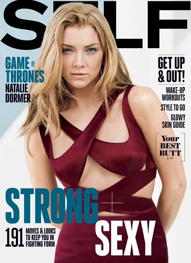 Natalie Dormer graces the April 2015 cover of Self Magazine.