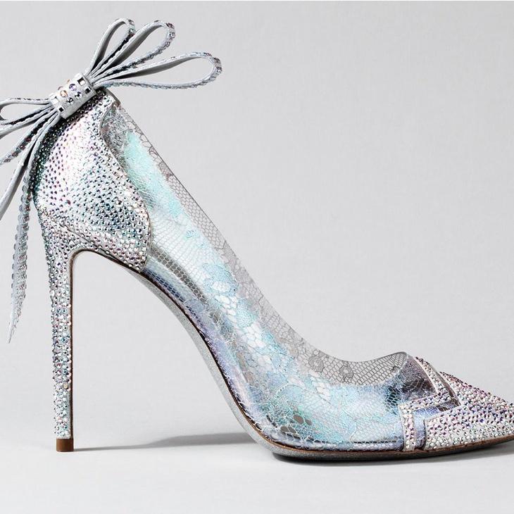 9 designers recreate cinderella glass slippers