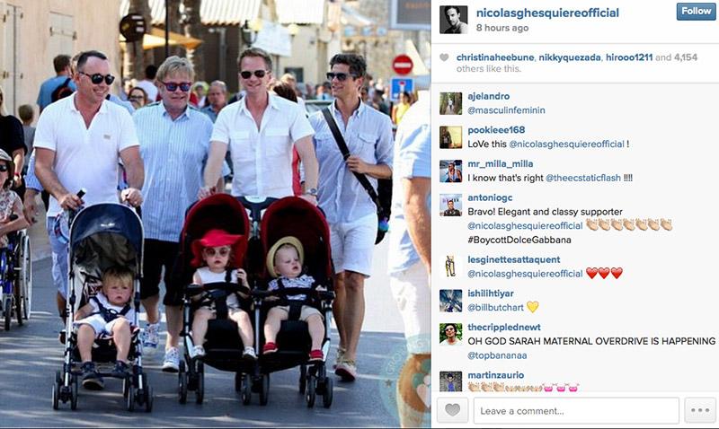 Nicolas Ghesquière sent out this Instagram message about the Dolce & Gabbana, Elton John controversy.