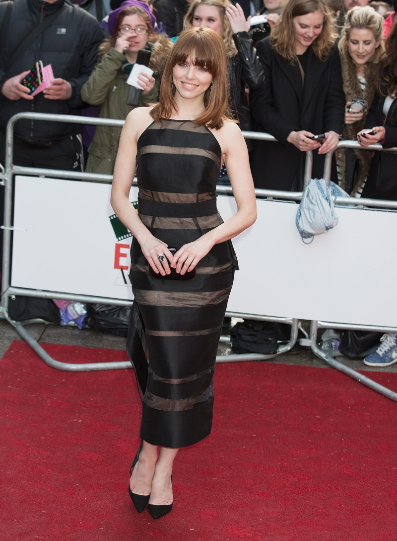 Ophelia Lovibon wore a Milly dress in black. Photo: Landmark / PR Photos