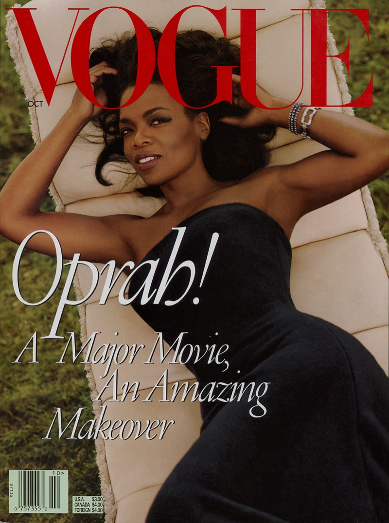Oprah graced Vogue's October 1998 cover.
