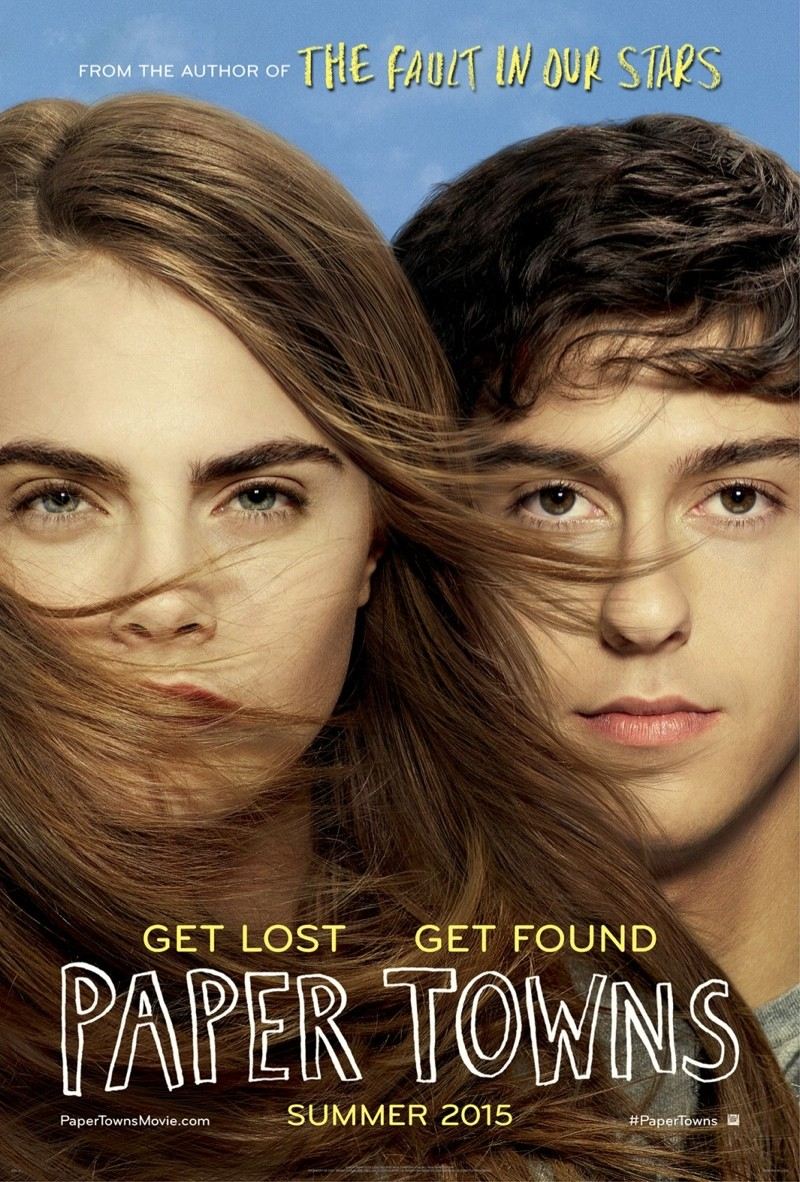 Cara Delevingne + Nat Wolff on 'Paper Towns' Movie Poster