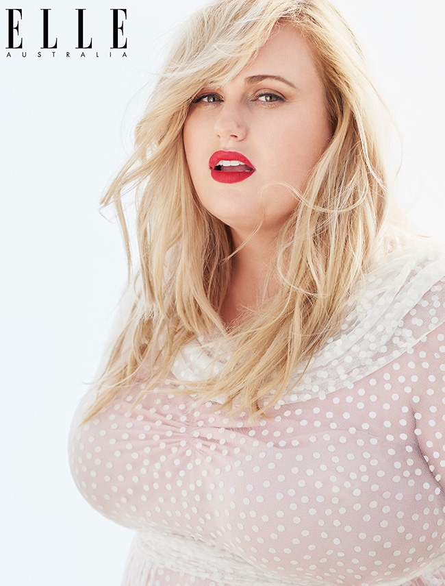 Rebel Wilson models spring looks in the photo shoot.