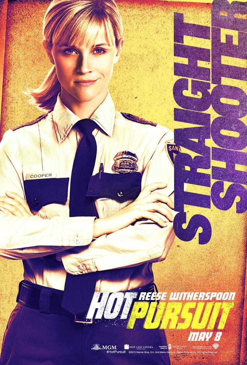 Reese Witherspoon is a straight-shooter on a 'Hot Pursuit' movie poster