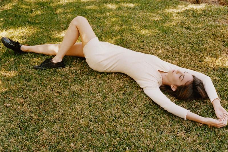 Gia Coppola stars in the Rodarte x Superga campaign.