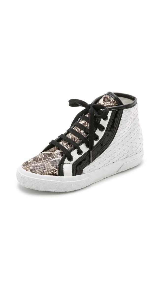 Rodarte x Superga Net Snake High Top Sneakers available for $259.00