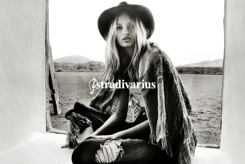 Romee Strijd is the star of Stradivarius' spring-summer 2015 campaign.