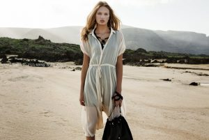 Romee Strijd is a Bohemian Babe in Stradivarius' Spring 2015 Ads