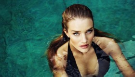 Rosie Huntington-Whiteley gives a seductive stare to the camera for Esquire UK shoot.