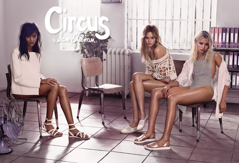 Models pose in Sam Edelman's Circus campaign for spring 2015.
