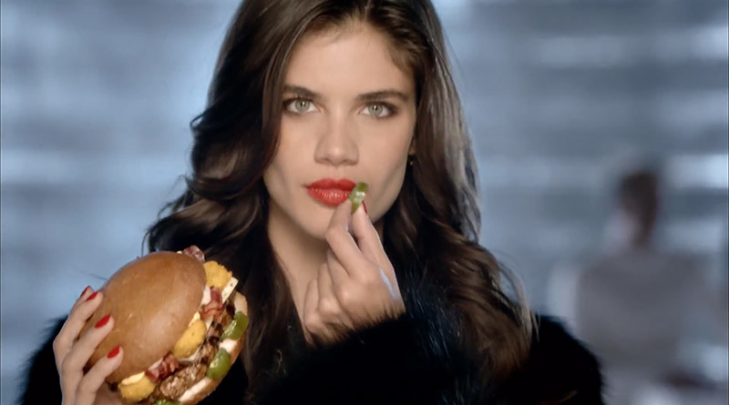 Sara Sampaio stars in Carl's Jr. commercial for its Thickburger El Diablo