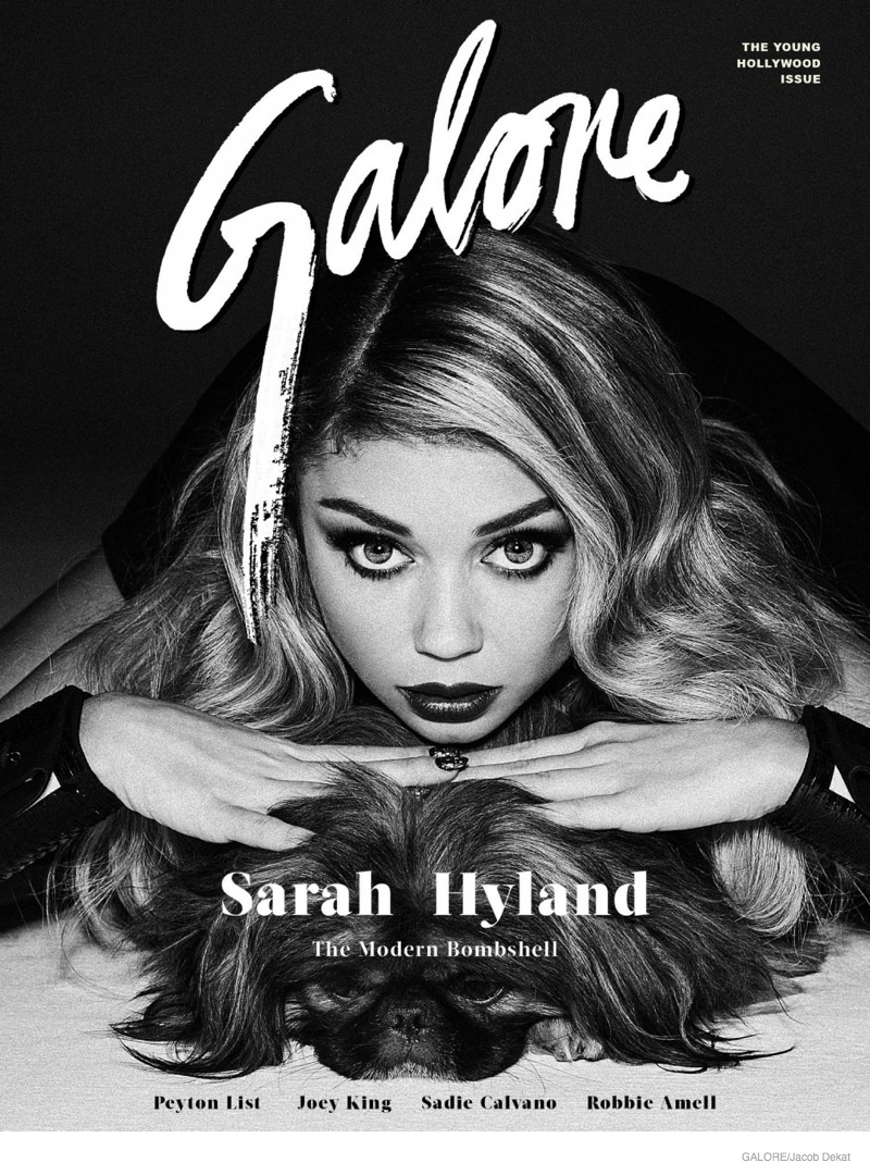 Sarah Hyland stars on the cover of 'The Young Hollywood Issue' from Galore Magazine.
