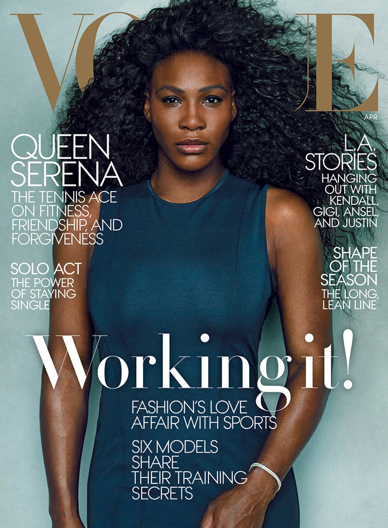 Serena Williams graced her second Vogue cover for the magazine's April 2015 issue.