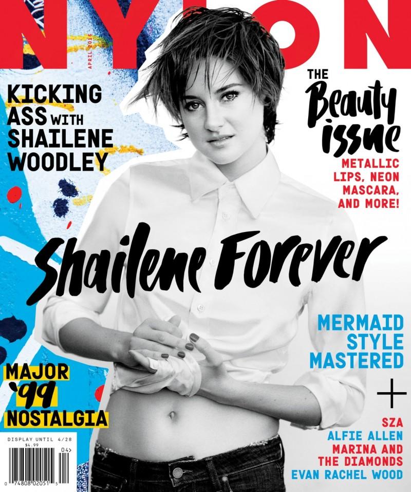 Shailene Woodley graces the April 2015 cover of Nylon Magazine.