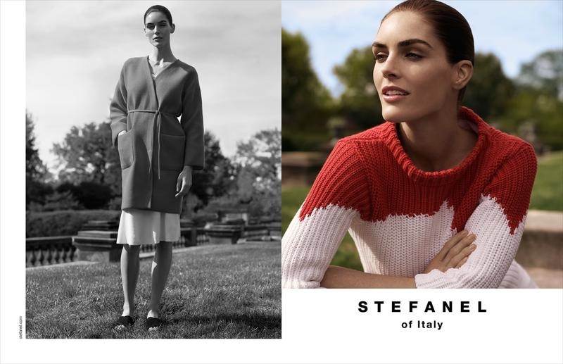 Hilary Rhoda fronts the spring-summer 2015 campaign from Stefanel photographed by Benny Horne.