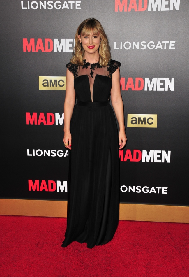Stephanie Drake opted for a black gown with sheer paneling. Photo: Koi Sojer / PR Photos