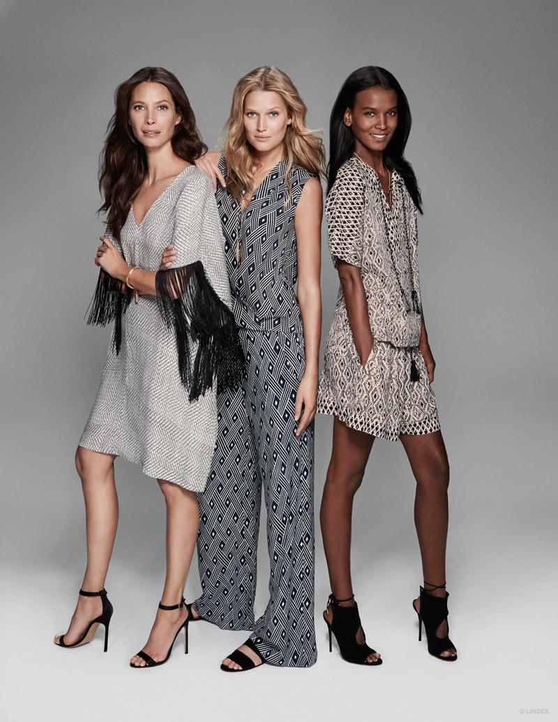Christy Turlington, Toni Garrn & Liya Kebede front Lindex's spring 2015 campaign.