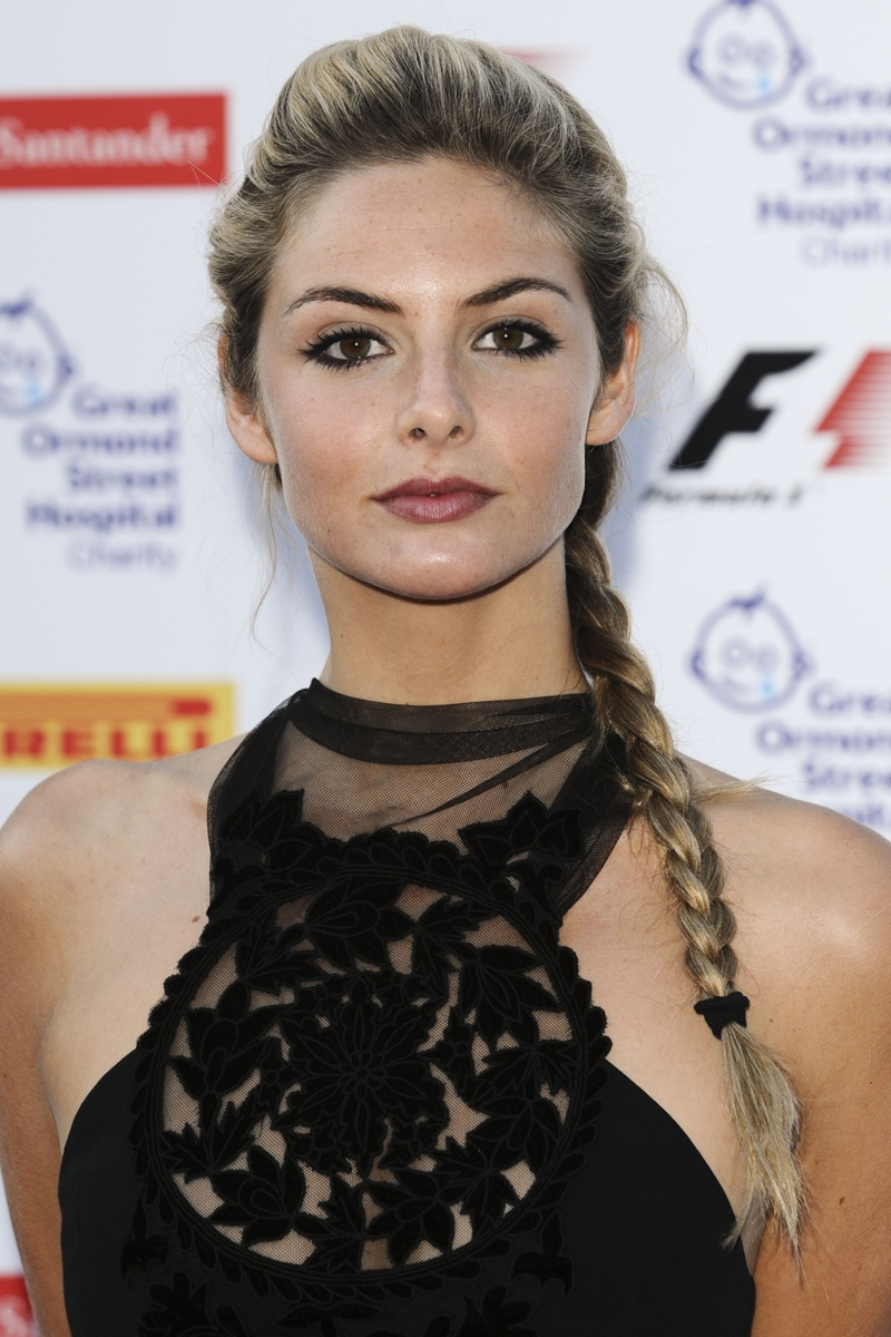 Tamsin Egerton rocks a side braid. Photo: Shutterstock.com.