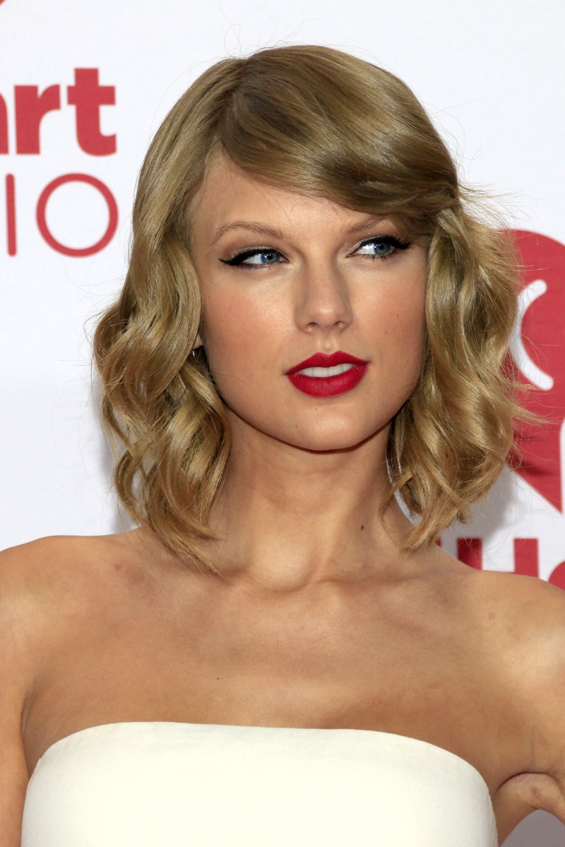 The pop singer showed off her short locks with a dark red lip at an iHeartRadio event in 2014. Photo: Helga Esteb/Shutterstock.com