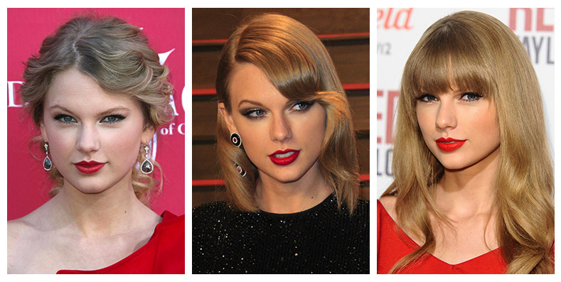 Taylor Swift is quite the fan of red lipstick. Photo: Shutterstock.com