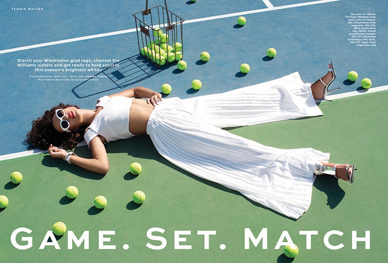 The March 3, 2015, issue of Stylist Arabia spotlights tennis fashion