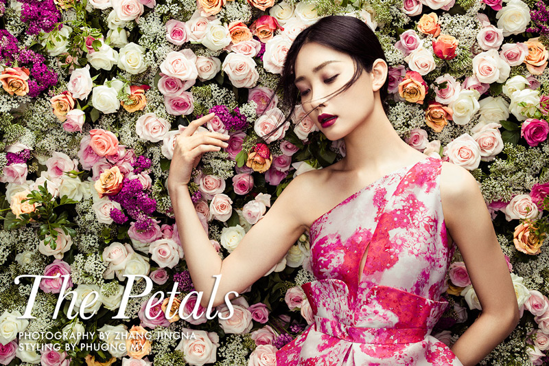 Kwak Ji Young stars in 'The Petals', a shoot photographed by Zhang Jingna and styled by Phuong My
