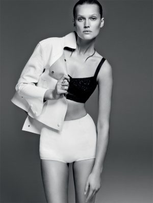 Toni Garrn Works It in Minimal Style for Bazaar Brazil