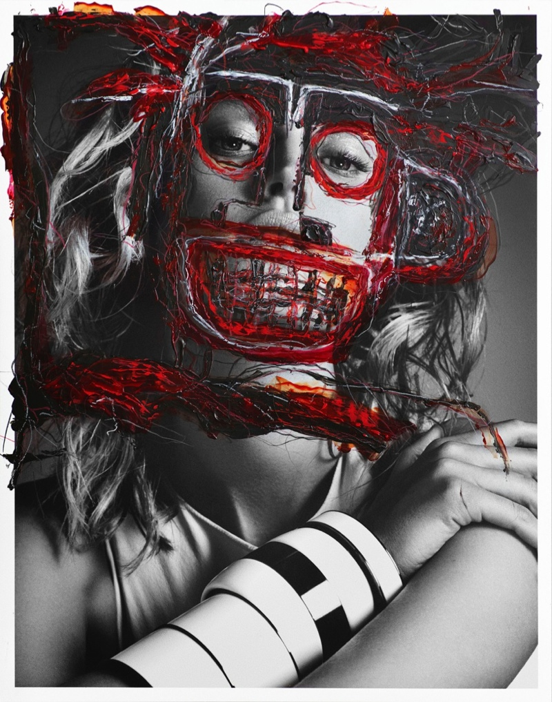 The masks are inspired by the work of Jean-Michel Basquiat