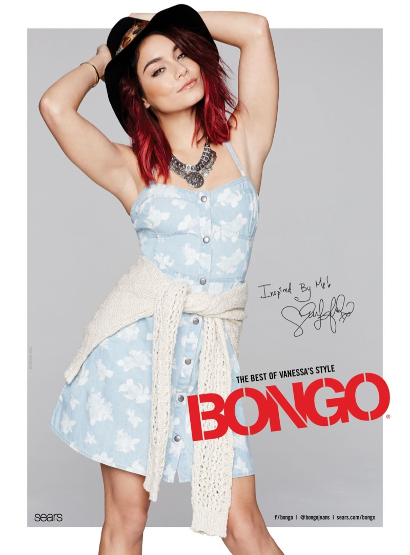 Actress Vanessa Hudgens is back for Bongo's spring-summer 2015 campaign.