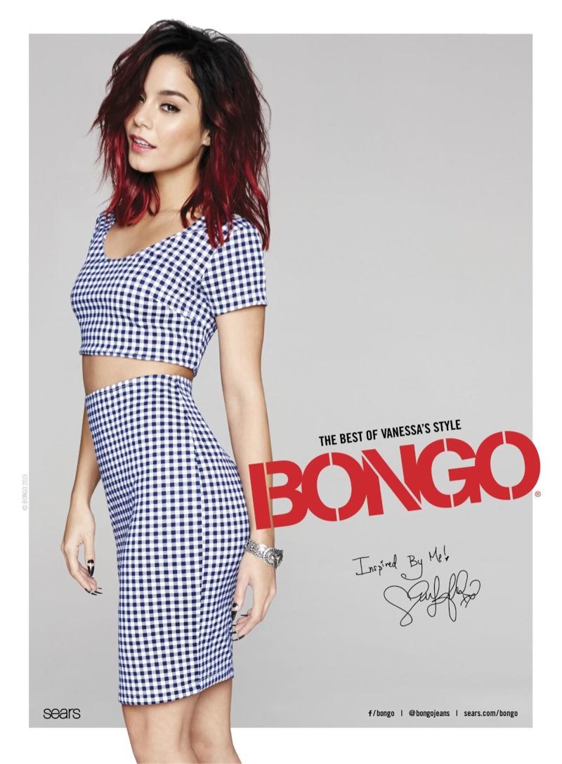 Vanessa wears crop top looks for the brand.