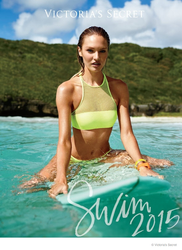 Candice Swanepoel lands the cover of Victoria's Secret Swim 3 Catalogue for 2015.