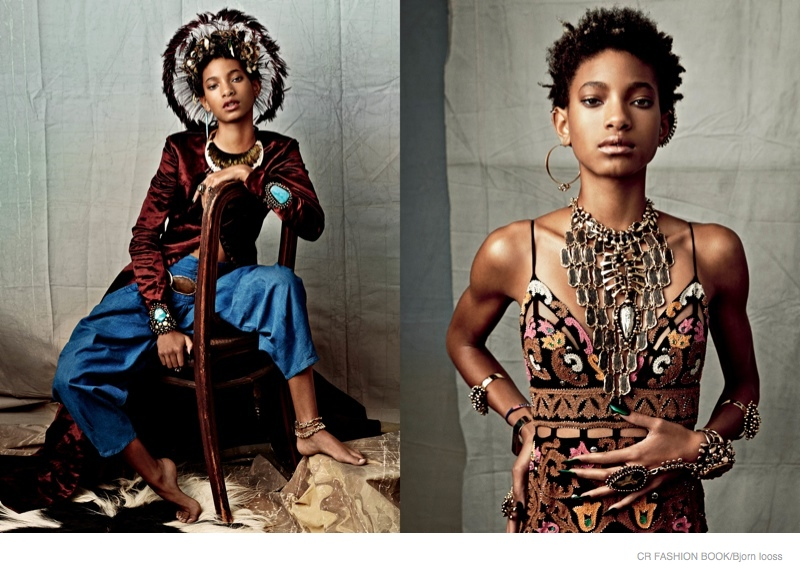 Daughter of Will Smith, Willow Smith, stars in CR Fashion Book's spring-summer 2015 issue.